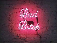 'Bad Bitch' Neon, from the BB x Me & You collab! LEAD TIME: We make to order, please allow approximately 3 weeks for your Neon Sign to ship. *This piece is made to order and is not eligible for return. Bad Girl Aesthetic, Aesthetic Collage, Purple Aesthetic, Quote Aesthetic, Aesthetic Pictures, Aesthetic Backgrounds, Aesthetic Iphone Wallpaper, Aesthetic Wallpapers, Bad Girl Wallpaper