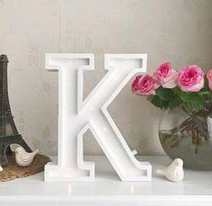 Marquee letter K Letter lights K alphabet lights Marquee