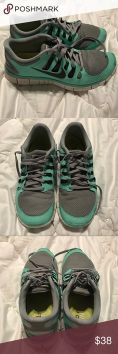 size 40 3b288 5984f Nike Free Run In great condition! The color is like a Tiffany blue. These  are perfect for running and walking! I loved them. Has been worn, but there  are no ...
