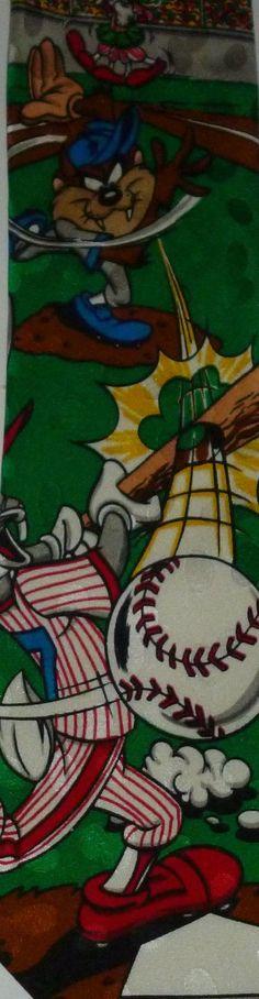 Looney Tunes Bugs Bunny Taz Marvin The Martian Baseball Sports Tie