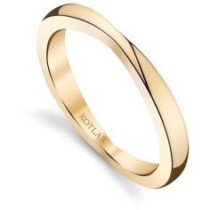 Women's Rose Gold Rings by Harry Kotlar Bloom Taper Band ($1,810) ❤ liked on Polyvore featuring jewelry, rings, rose, 18 karat gold ring, 18k ring, charm jewelry, band jewelry and pink gold ring