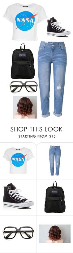 """""""80's nerd"""" by littleangel66 ❤ liked on Polyvore featuring WithChic, Converse, JanSport and ZeroUV"""