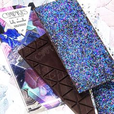 Bijou Chocolate Bar, 73% cacao studded with edible crystals, by Compartes Chocolatier x Kelly Wearstler