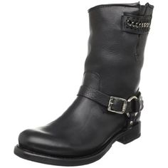 FRYE Women's Jenna Chain Short Boot, Black, 5.5 M US >>> Be sure to check out this awesome product.