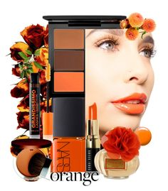 """Fall Beauty: Orange Crush🍊"" by easy-dressing ❤ liked on Polyvore featuring Giorgio Armani, NARS Cosmetics, MAC Cosmetics, Nero Cosmetics, Topshop, Coach, Clinique, polyvoreeditorial, orangecrush and polyvorebeauty"