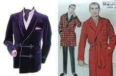 Smoking jacket, for men. Looks like a robe to me!