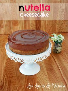 Nutella Cheesecake o Tarta de Queso de Nutella {Sin horno}