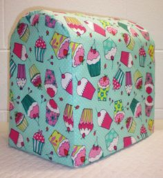 Check out this item in my Etsy shop https://www.etsy.com/listing/204125090/teal-cupcake-cover-for-45-and-5qt