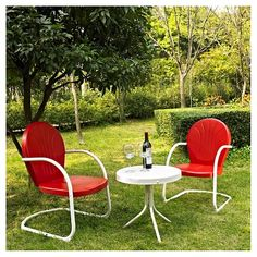 Griffith 3pc Metal Outdoor Seating Chat Set - Crosley : Target