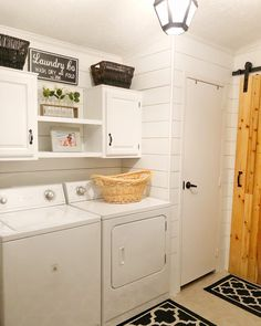 Faux Ship Lap💕If you love Ship Lap but do not love the price tag this is a must farmhouse HACK!This faux Ship Faux Shiplap, Stacked Washer Dryer, Kitchen Cabinets, Diy Projects, Ship Lap, Home Appliances, Laundry Rooms, Birch, House