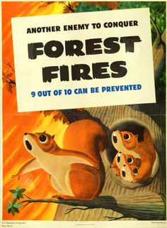 Prevent Forest Fires Poster - 1944 - (Albert Staehle)
