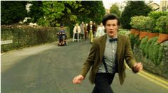 """He walks like he's in a constant state of surprise at his own limbs."" — Steven Moffat on Matt Smith"