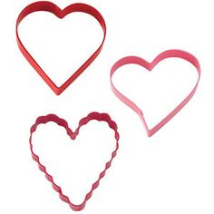 Wilton Hearts For The Season Cutter Set Heart Shaped Cookie Cutter, Cookie Cutter Set, Valentine Cookies, Valentines Day Hearts, Cake Pop Designs, Baking Supply Store, Metal Cutter, Kinds Of Cookies, Mothers Day Special