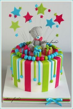 New Cake Girl Fondant Teddy Bears 52 Ideas Teddy Bear Birthday Cake, Toddler Birthday Cakes, Boys First Birthday Cake, Cake Birthday, Fondant Teddy Bear, Teddy Bear Cakes, Teddy Bears, Fondant Cupcakes, Fun Cupcakes