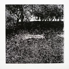 Staničná 352-8 [printmaking, cutting into MDF] #printmaking #woodcut #bunker #art #shelters