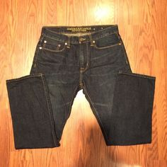 American Eagle Guys Jeans Fantastic guys jeans-Slim Straight and in PERFECT condition. Great for everyday use or upscale casual due to darker wash. Worn just a few times American Eagle Outfitters Jeans Straight Leg