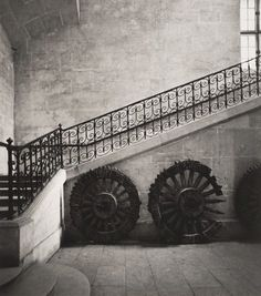 Max Dupain (Born Australia 1911, died 1992) Untitled (interior staircase and cart wheels) 1978 From The Paris 'private' series