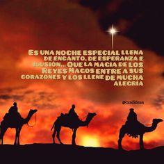 Es una noche especial llena de encanto de esperanza e ilusión Que la magia de los Reyes Magos entre a sus corazones y los llene de mucha alegría.  @Candidman     #Frases Candidman Reyes Magos @candidman