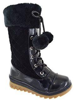 e91820fff7844 Nouveau pour enfants mi-mollet mode filles hiver chaud talon compensé bas  bottes de neige taille 8-2