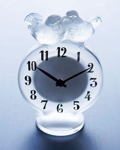 """Lalique Lalique """"Antoinette"""" Clock"""