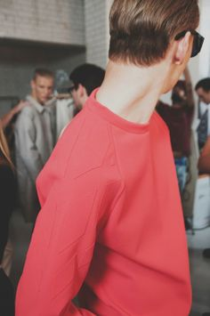 Backstage at Lou Dalton SS15 Photography Philip Trengove