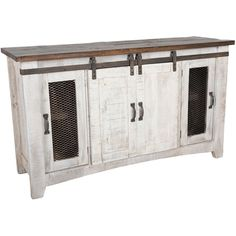cheap crafters and weavers granville white 60 tv stand sideboard console table with sliding doors Barn Door Cabinet, Barn Door Tv Stand, Barn Door Console, Cupboard, Tv Stand Sideboard, Sideboard Ideas, Console Tv, Console Cabinet, Modern Sideboard