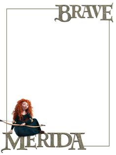 """Merida - sitting - Project Life Journal Card - Scrapbooking ~~~~~~~~~ Size: 3x4"""" @ 300 dpi. This card is **Personal use only - NOT for sale/resale** Logo/clipart belongs to Disney. *** Click through to photobucket for more versions of this card ***"""