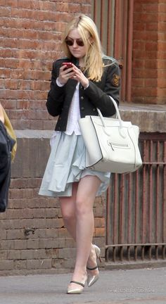 Dakota Fanning in NYC #celine