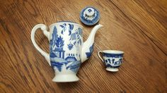 """Vintage hand-painted, ceramic teapot and cup stamped """"Made in Occupied Japan"""" by CnWsTexasTreasures on Etsy"""