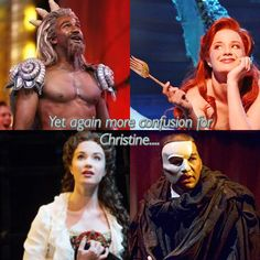 "Sierra Boggess and Norm Lewis- Little Mermaid and Phantom! And Raoul says ""Whatever you believe, this man - this thing - is not your father!"" Hm..."