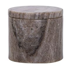 Small Beige Marble Jar with Lid