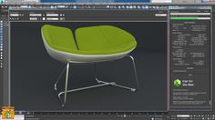 Iray + 3ds max Fjord Armchair Green