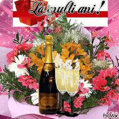 See the PicMix la multi ani belonging to on PicMix. La Multi Ani Gif, Champagne, Happy Birthday, Thankful, Table Decorations, Simple, Creative, Gifs, Art