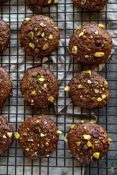 Double Chocolate Brownie Cookies w/ Pistachios {easy + oil-free}