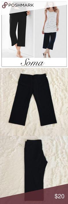 "SOMA Black Capri Crop Pant Cotton blend crop black pants. New with tags Soft and comfy, 3.5"" elastic contoured waistband  Inseam: 19"" Soma Pants Capris"