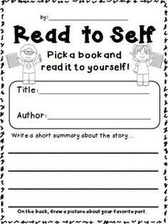 Reading Stations FREEBIE! Response sheets for Read to Self, Read to Someone, Listening, Writing, and Word Study.