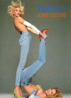 90s Versace Campaign     #90s #versace #denim