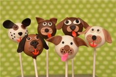Playful Puppies Cake Pops