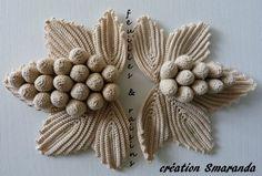 Filet Crochet, Art Au Crochet, Mode Crochet, Crochet Motifs, Freeform Crochet, Crochet Crafts, Crochet Lace, Crochet Stitches, Fruits En Crochet