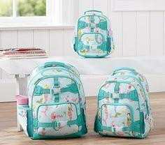 Mackenzie Aqua Mermaids Backpacks   Pottery Barn Kids