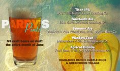 Parry's Pints consists of five different craft beers every month that are available for only $3 a pint. #AleYeah