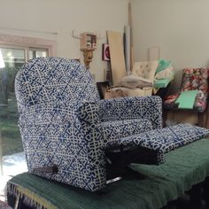 If you can upholster a recliner with this level of patterning, you can be proud.