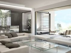 epic futuristic minimalist living room design 17