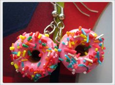 Hey, I found this really awesome Etsy listing at https://www.etsy.com/listing/158813755/pink-frosted-donut-earrings