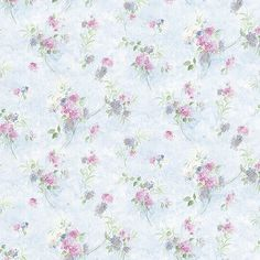 Norwall Wallcoverings Inc Pretty Prints IV x Mini Spring Time Trail Wallpaper Color: Blue / Choke / Pink / Purple Pink Wallpaper Iphone, Fall Wallpaper, Trendy Wallpaper, Flower Wallpaper, Wallpaper Roll, Pink And Purple Wallpaper, Pink Purple, Floral Pattern Wallpaper, Feature Wall Bedroom