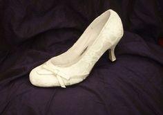 IVORY SATIN & LACE Vintage Style Bridal Wedding Shoes ~ Brand new, all sizes   eBay