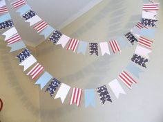 10 ft Petite Flag Garland / Nautical by anyoccasionbanners on Etsy