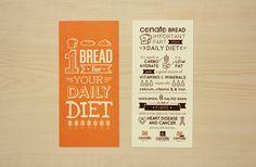 Conato Bakery flyer by Sonia Ardelia, via Behance