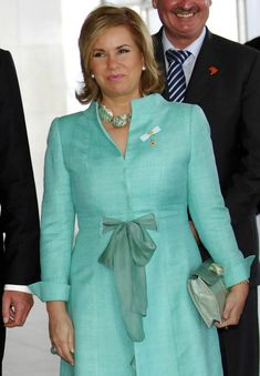 Grand Duchess Maria Teresa of Luxembourg during a visit at the Palace of the Ministry of External Relations (Itamaraty) on November 28, 2007 in Brasilia. Brazil.