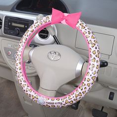 Hello Kitty steering wheel cover (pink leopard) Sanrio online shop - official mail order site